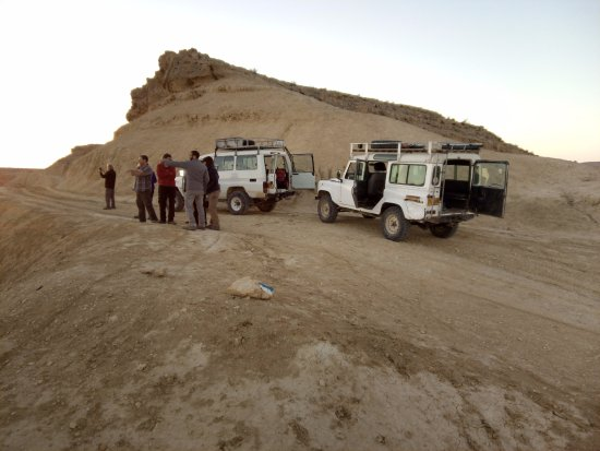 Ra'anana, Israel: Touring the Ramon Crater With Jeeps. Sometimes they are the only way to exit the Desert after Hi