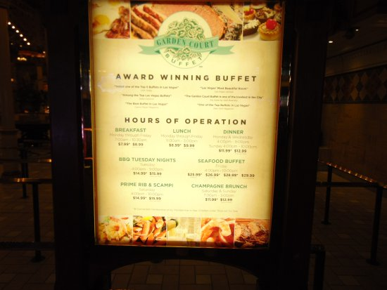 Garden Court Buffet : Hours and prices
