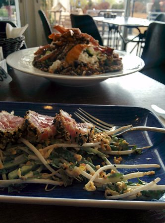 Denya Cafe: Seared tuna and a fantastic salad