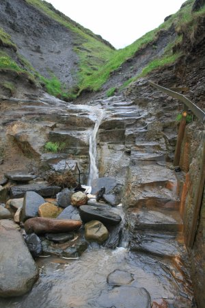 Yorkshire Dales National Park, UK: Secret entrance to the trail that you can only access when the tide is out