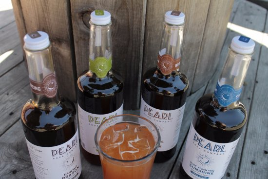 Flag & Wire: We proudly serve sparkling tea sodas by the wonderful Pearl Soda Company!