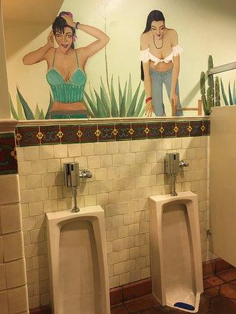 Kings Beach, CA: Mens Restroom with painted walls