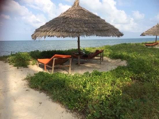 Pangani, Tanzania: Right in front of every room a private place at the beach