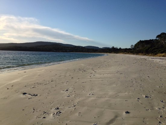White Beach is a lovely safe beach with squeaky white sand
