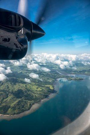 Garden Island Resort: In the air