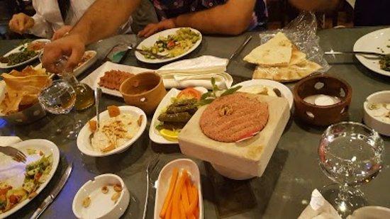 Jezzine, Lebanon: set menu