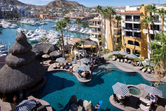 Marina Fiesta Resort & Spa: Pool and marina view