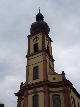 Bad Bruckenau, Németország: St. Bartholomeus kyrktorn i Bad Brückenau
