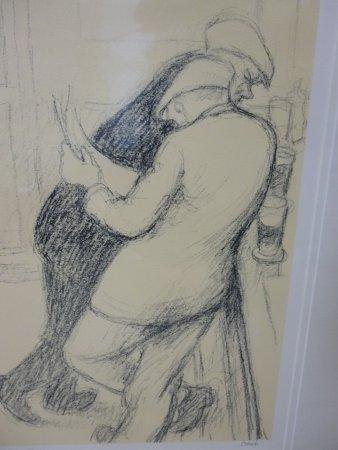 Spennymoor, UK: Men leaning at bar Norman Cornish