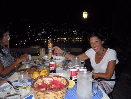Batsi, Greece: BBQ NIGHT AT THE GARDEN