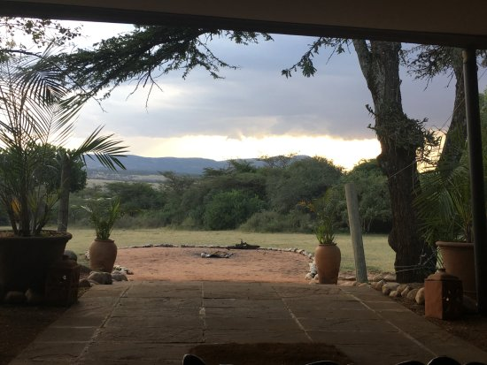Olderkesi Private Reserve, Kenya : View from the Mess Tent