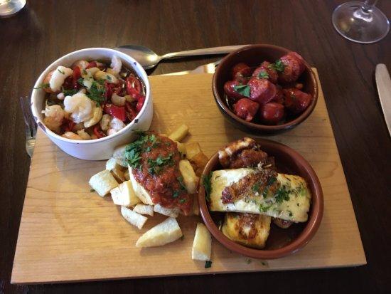 Queen Camel, UK: Tapas, outstanding plate of food