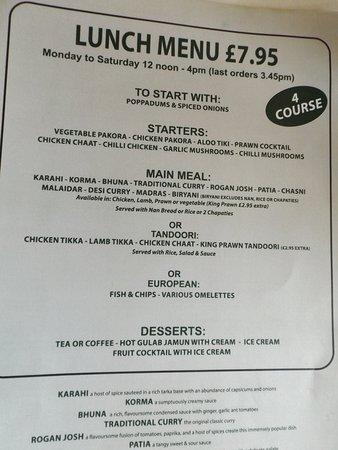 the lunch menu picture of killermont polo club glasgow tripadvisor