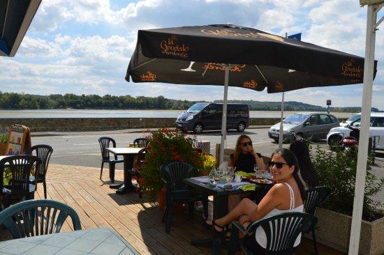 Saint-Mathurin-sur-Loire, France: our table on the terrace
