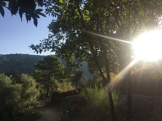 Genalguacil, Ισπανία: Morning view from the outdoor kitchen