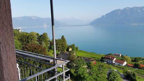 Chexbres, Switzerland: Hotel Prealpina - vue du balcon 1