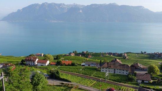 Chexbres, Switzerland: Hotel Prealpina - vue de la fenêtre de la chambre