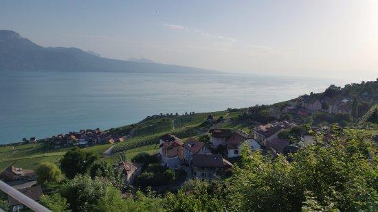 Chexbres, Switzerland: Hotel Prealpina - vue du balcon 2