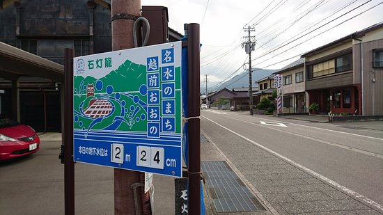 Ono, Japón: 地下水の水位が表示されています