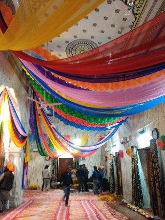 Mohali, India: Inside Room - Gurudwara Amb Sahib during annual function celebrations