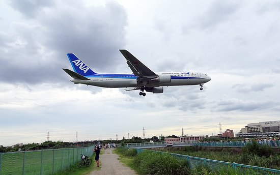 Toyonaka, ญี่ปุ่น: 32Lに進入する旅客機