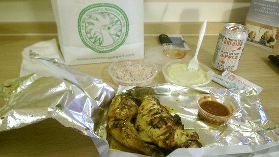Ilford, UK: 1/2 Peri chicken Mash n Coleslaw