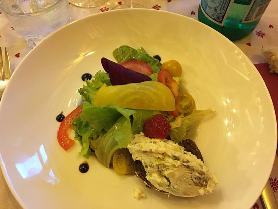 Cordon, Frankrig: entrée du menu Edelweiss