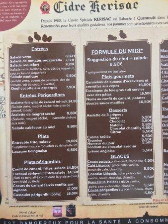Belvés, Francia: Entrecôte sauce échalote et frites maison
