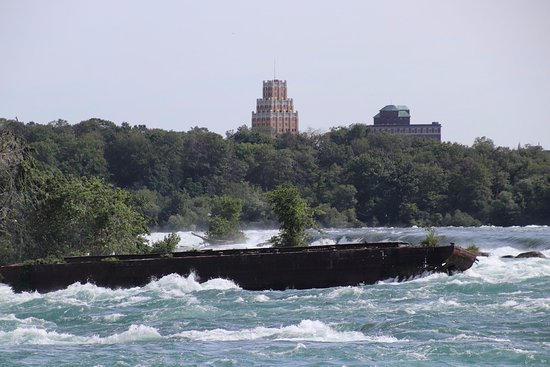 Niagara Scow: Behind the Scow is the United States