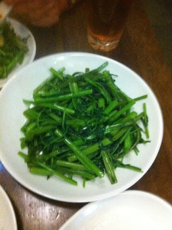 water spinach - nicely garlicky - Picture of Dim Sum Garden ...