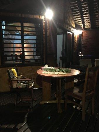Patio, French Polynesia: Salon pour repas à deux en toute quiétude