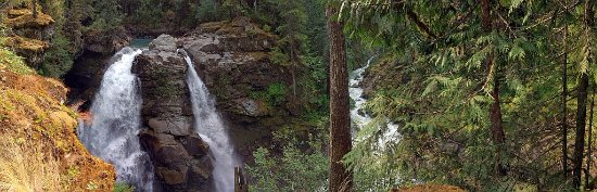 Nooksack Falls: Top of falls and side creek