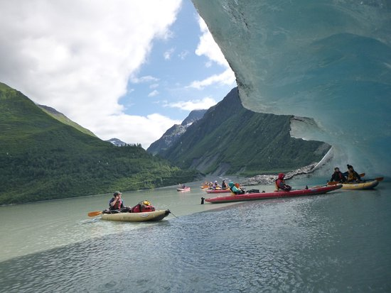 Valdez, AK: Under one of the glaciers