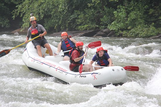 Copperhill, TN: Fred navigating our boat through the middle Ocoee.