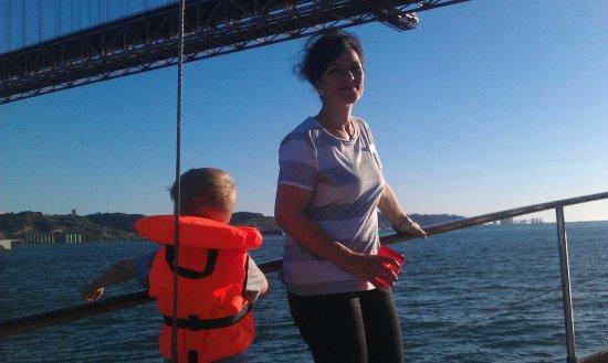 Halcyon I Lisbon Boat Tours: Spotting jellyfish and admiring the bridge.