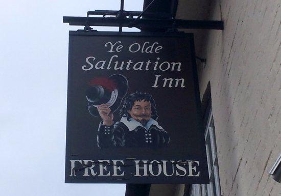 Weobley, UK: Pub Sign