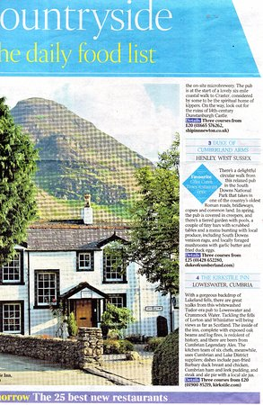 Loweswater, UK: Sunday Times feedback