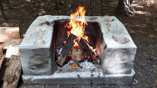 Hague, NY: All campsites have small fireplaces such as this one