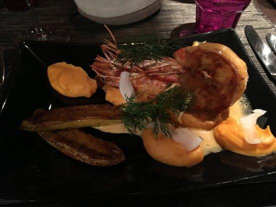 La Gentilhommiere: Lobster dinner at hotel