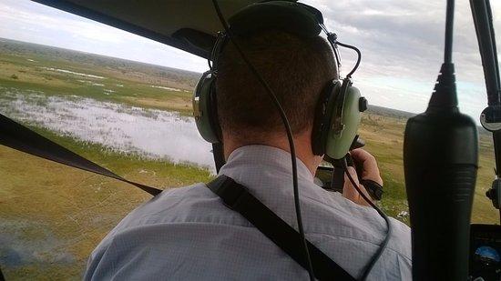 Maun, Μποτσουάνα: elicottero