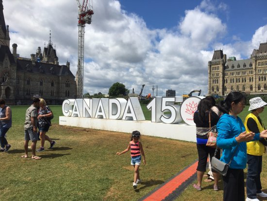 Ottawa, Canada: Celebrating the sesquicentennial (/seskwəsenˈtenēəl/) because how often can a person use that wo