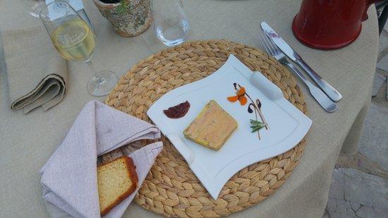 Issigeac, Frankrike: terrine de foie gras et sa brioche