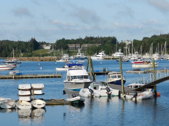 Southwest Harbor, ME: Boats tied up by the dock