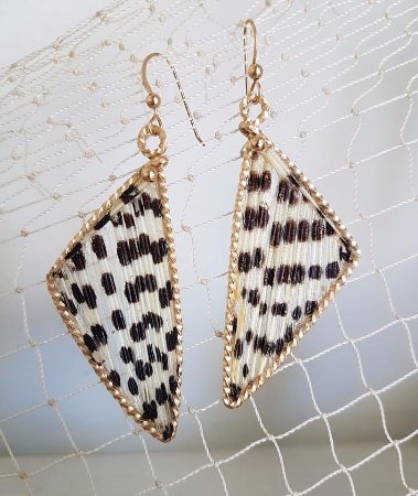 Placencia, Belize: Limited Edition Lionfish earrings set in 14k fold filled with gold beads