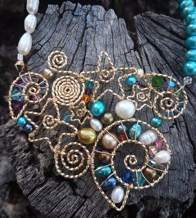 Placencia, Belize: Signature Reef Goddess Necklace, inspired by out beautiful barrier reef