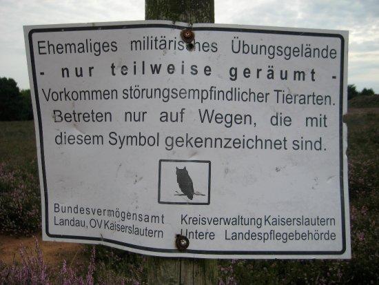 Mehlingen, Germany: Nicht unwichtiger Hinweis