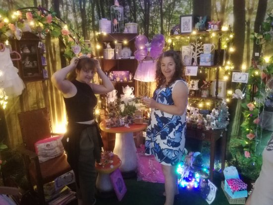 Shepton Mallet, UK: Inside the fairy grotto. Some home made crafts as well as factory produced and really well price