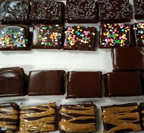 Shepherdstown, WV: Brownies!  Choc-choc chip, caramel drizzle, sprinkles or plain iced-something for everyone!