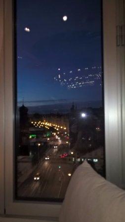 Ginger & Fred: uitzicht over een deel van de stad van aan onze tafel