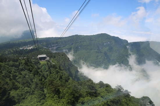 Emeishan, China: view from the cable car